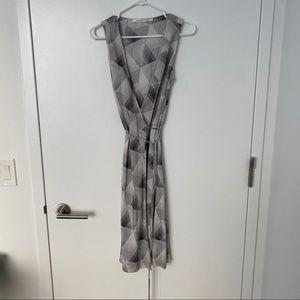 DVF Sleeveless Wrap Dress